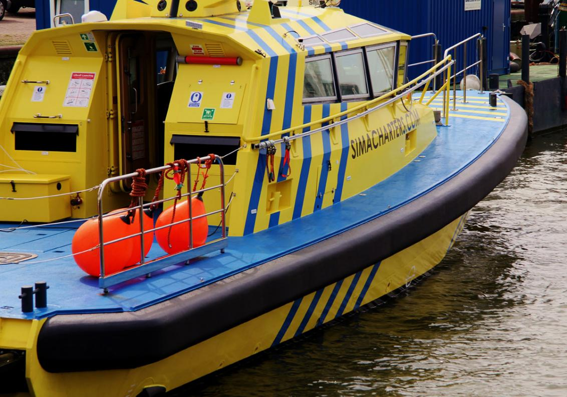Fender system for windfarm support vessel Sima Charters - SC Lynx.
