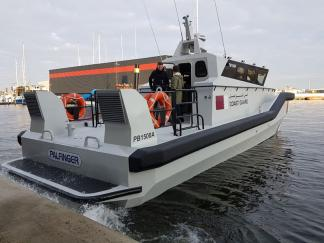 Tailor made fenders for fast rescue vessel PB1500A by  Palfinger Boats