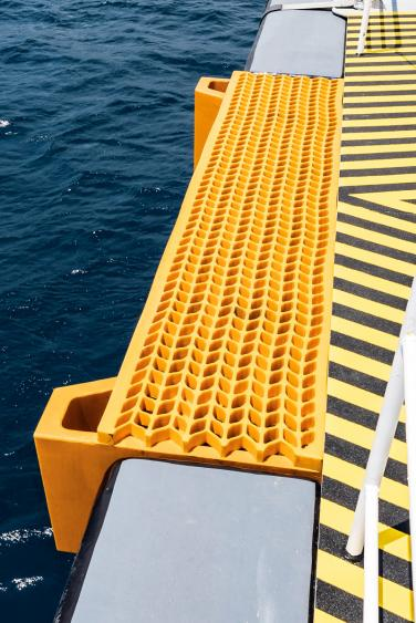 Tailor made fender system for Windfarm support vessel Damen  2710 by Damen Antalya
