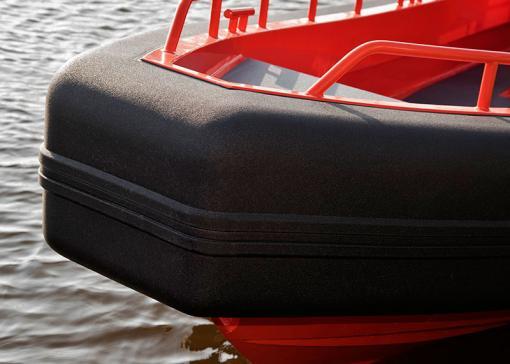 Maatwerk fenders voor werkboot Seahunter (Post workboats)