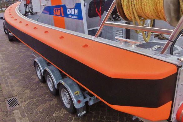 Fenders voor KNRM 9 mtr klasse, van Habbeke Shipyard