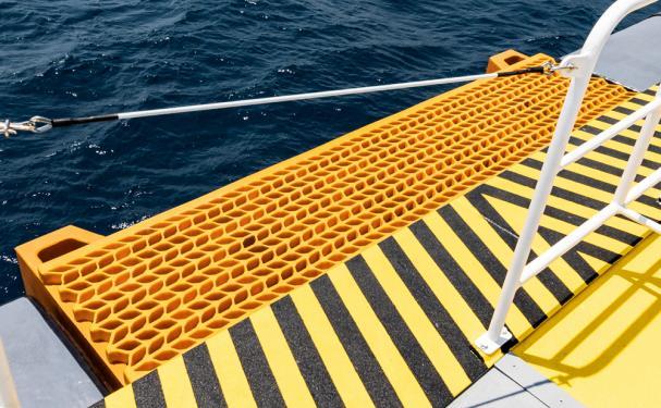 Tailor made fender system for Windfarm support vessel Damen  2710 by Damen Antalya