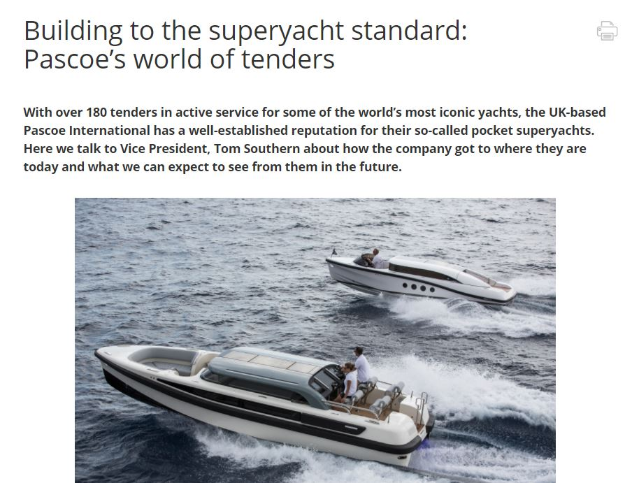 article pascoe international- super yacht times
